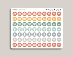Asterisk Circle Planner Stickers for 2020 inkWELL Press IWP-RM73