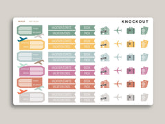 Airline Travel Sampler Stickers for 2020 inkWELL Press Planners IWP-RL94