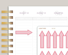 Large Striped Arrows for Makse Life Planner MH38