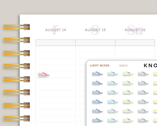 Shoe Icon Planner Stickers for Makse Life Planner MM10