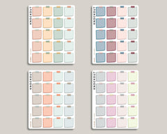 SMALL Sticky Note Box Planner Stickers for 2020 inkWELL Press Planners IWP-RM82
