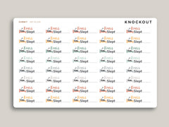 Hours Slept Planner Stickers for 2020 inkWELL Press Planners IWP-RL104
