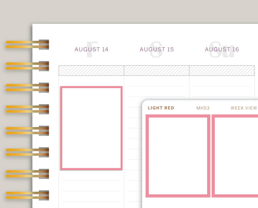 Outlined Full Box Planner Stickers for Makse Life Planner MH53