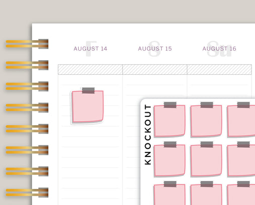 SMALL Sticky Note Box Planner Stickers for Makse Life Planner MM56