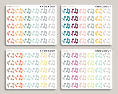 Music Note Icon Planner Stickers for 2020 inkWELL Press Planners IWP-RM102