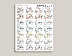 Girls Night Out Planner Stickers for 2020 inkWELL Press Planners IWP-RM98