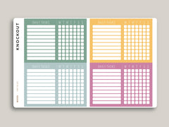 Daily Tasks Checklist Planner Stickers for 2020 inkWELL Press Planners IWP-RL93