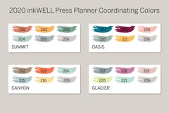 Monochrome FLEX Solid Functional Sampler Kit for 2020 inkWELL Press Planner, Erin Condren IWP-RL120