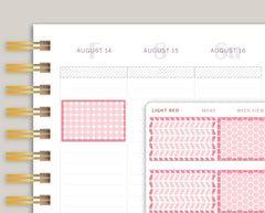 Geometric Patterned Half Box Planner Stickers for Makse Life Planner MH49