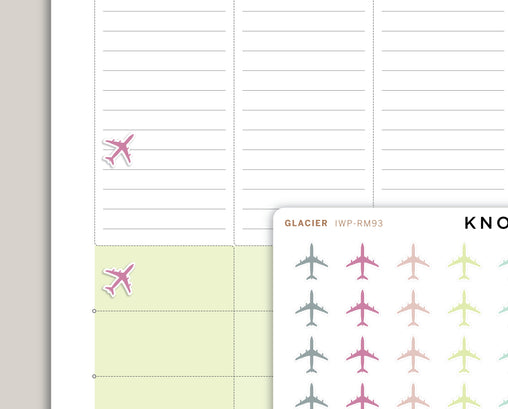 Airplane Icon Planner Stickers for 2020 inkWELL Press Planners IWP-RM93