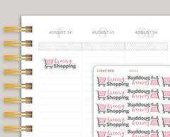 Grocery Shopping Icon Planner Stickers for Makse Life Planner MM48