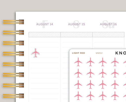 Airplane Icon Planner Stickers for Makse Life Planner MM52