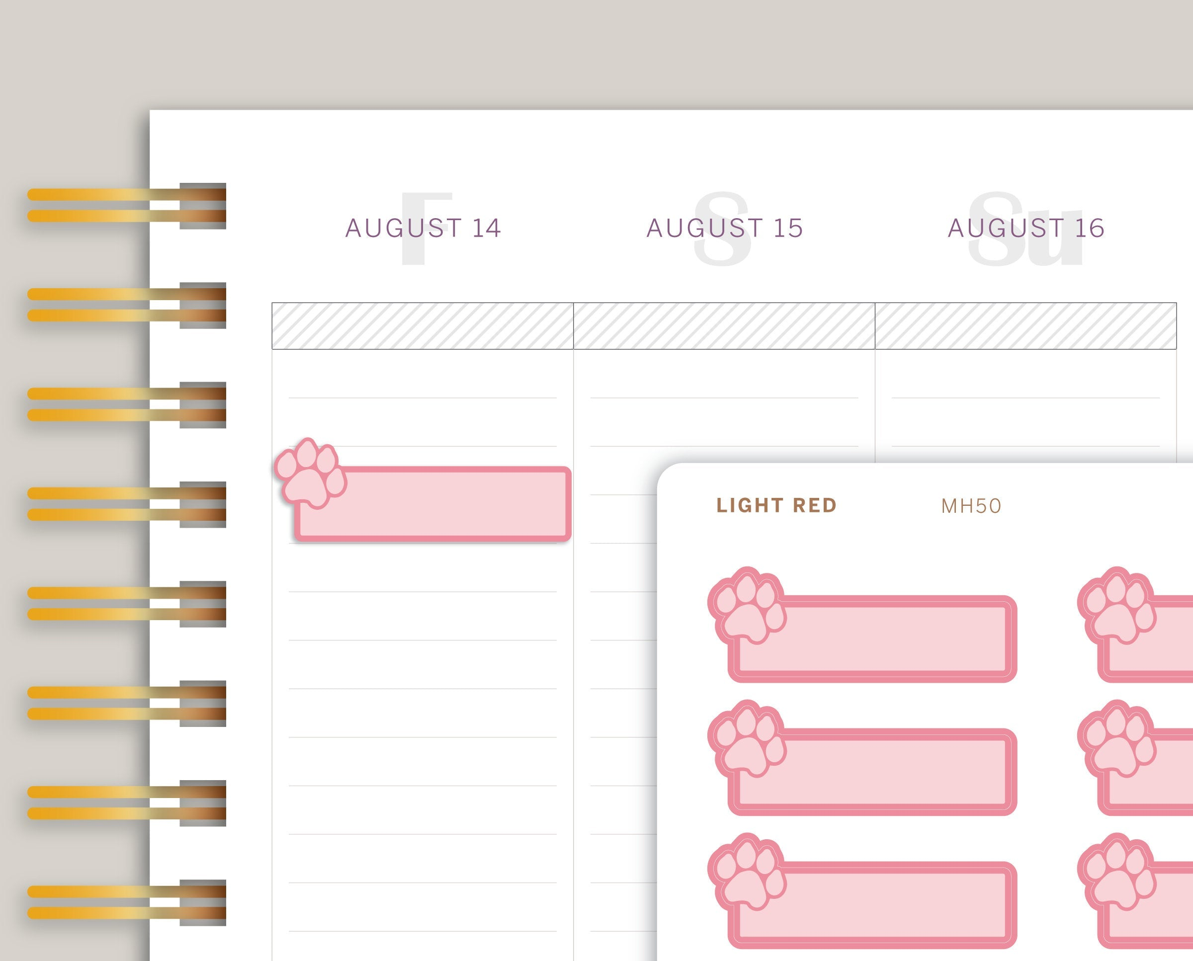 Pet Care Planner Stickers for Makse Life Planner MH50