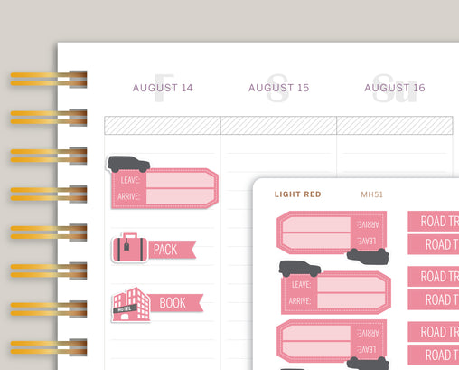 Road Trip Sampler Planner Stickers for Makse Life Planner MH51