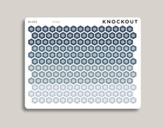 Professional Two Toned Mini Hexagons Stickers PCM2