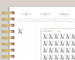 Grey Haircut Appointment Icon Planner Stickers NQ16