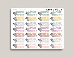 Movie Night Icon Stickers for 2019 inkWELL Press Planners IWP-RM100