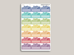 Early Dismissal Quarter Box Planner Stickers for Makse Life Planner MH79