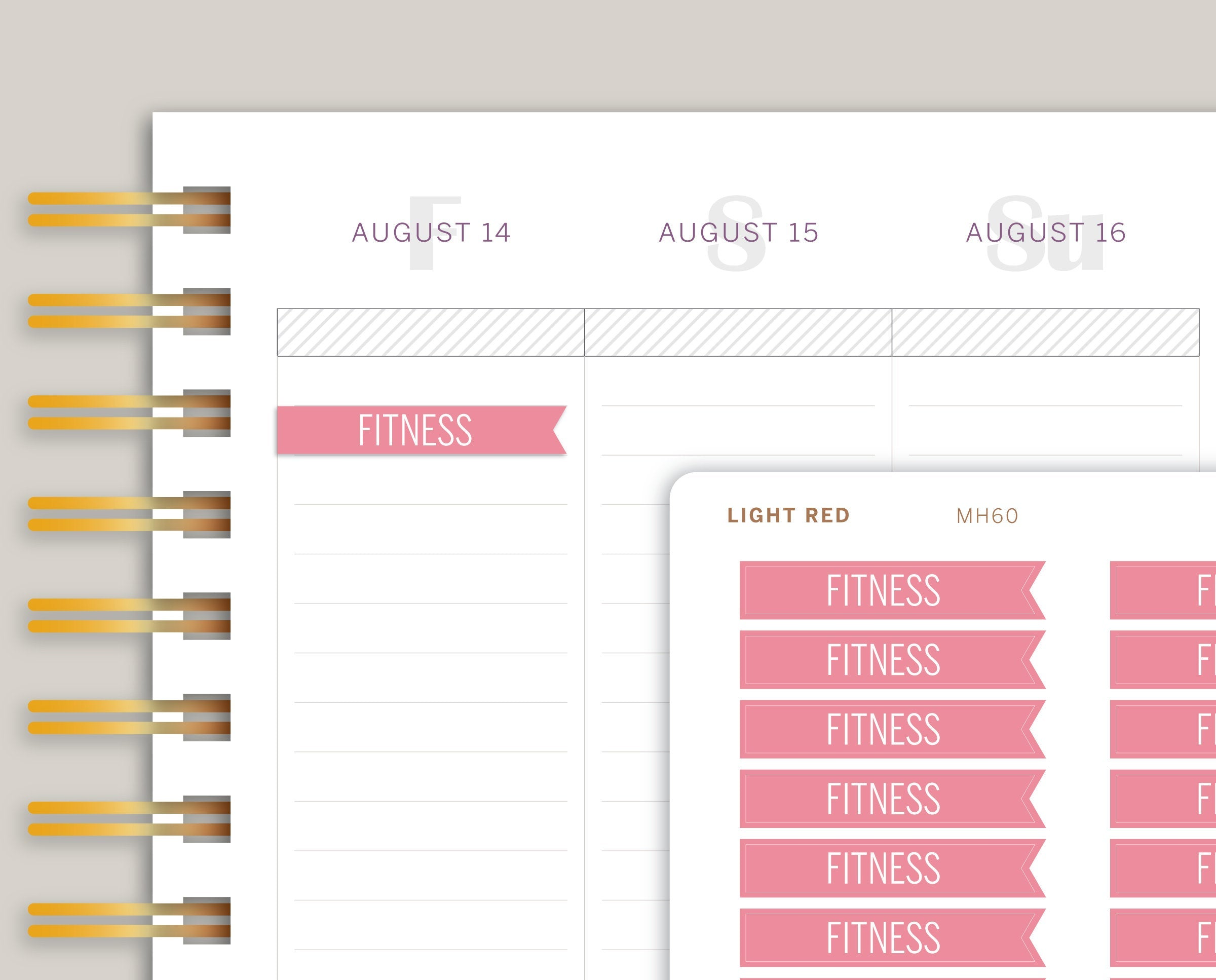 Classic Flag Header Stickers for Makse Life Planner MH60