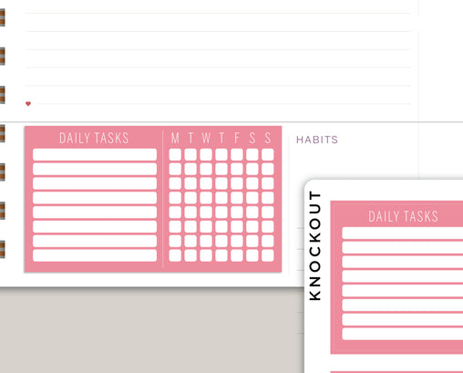Daily Tasks Checklist Planner Stickers for Makse Life Planner MH59