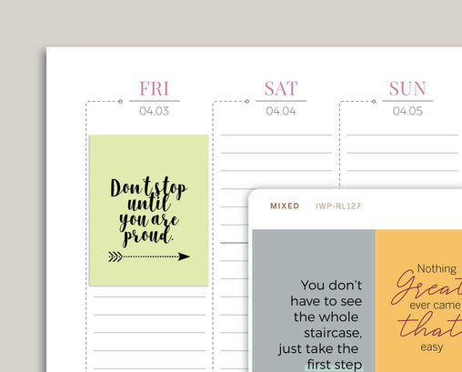 Quote Full Box Planner Stickers v2 for 2020 inkWELL Press Planners IWP-RL127