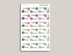 Beauty/Self-Care Sampler Stickers for 2020 inkWELL Press Planners IWP-RL124