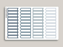 Professional Outlined Flag Sampler Planner Stickers PCL4