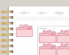 Early Dismissal Half Box Planner Stickers for Makse Life Planner MH77