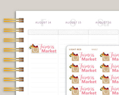 Farmers Market Planner Stickers for Makse Life Planner MM87