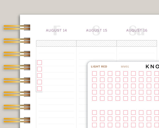 Square Checkbox Strip Planner Stickers for Makse Life Planner MM91