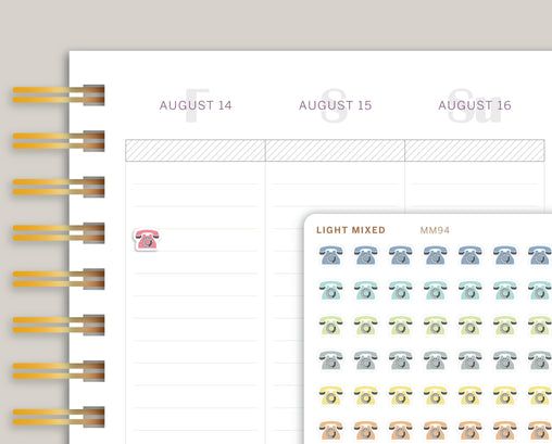 Mini Phone Icon Planner Stickers for Makse Life Planner MM94