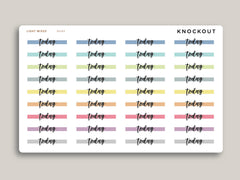 Vertical Highlight Header Stickers for Makse Life Planner MH84