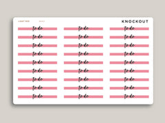 Horizontal Highlight Header Stickers for Makse Life Planner MH83