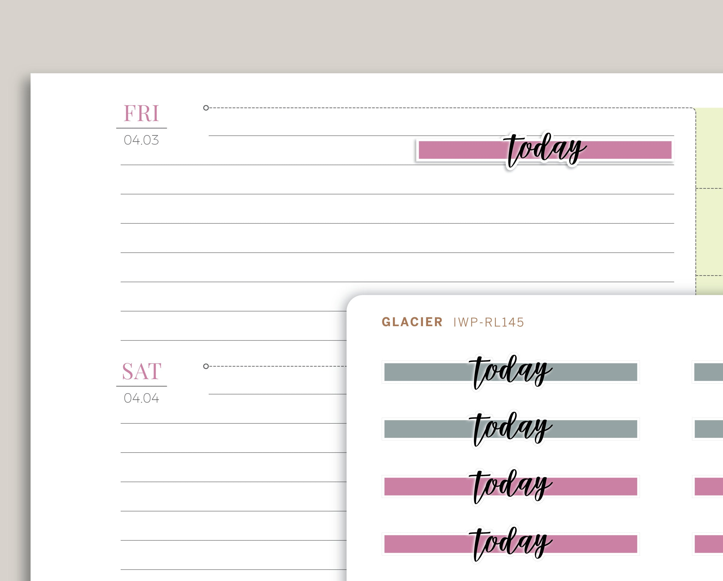 FLEX Highlight Header Stickers for 2020 inkWELL Press Planners IWP-RL145