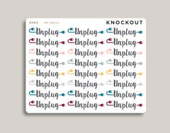 Unplugged Planner Stickers for 2020 inkWELL Press Planners IWP-RM124