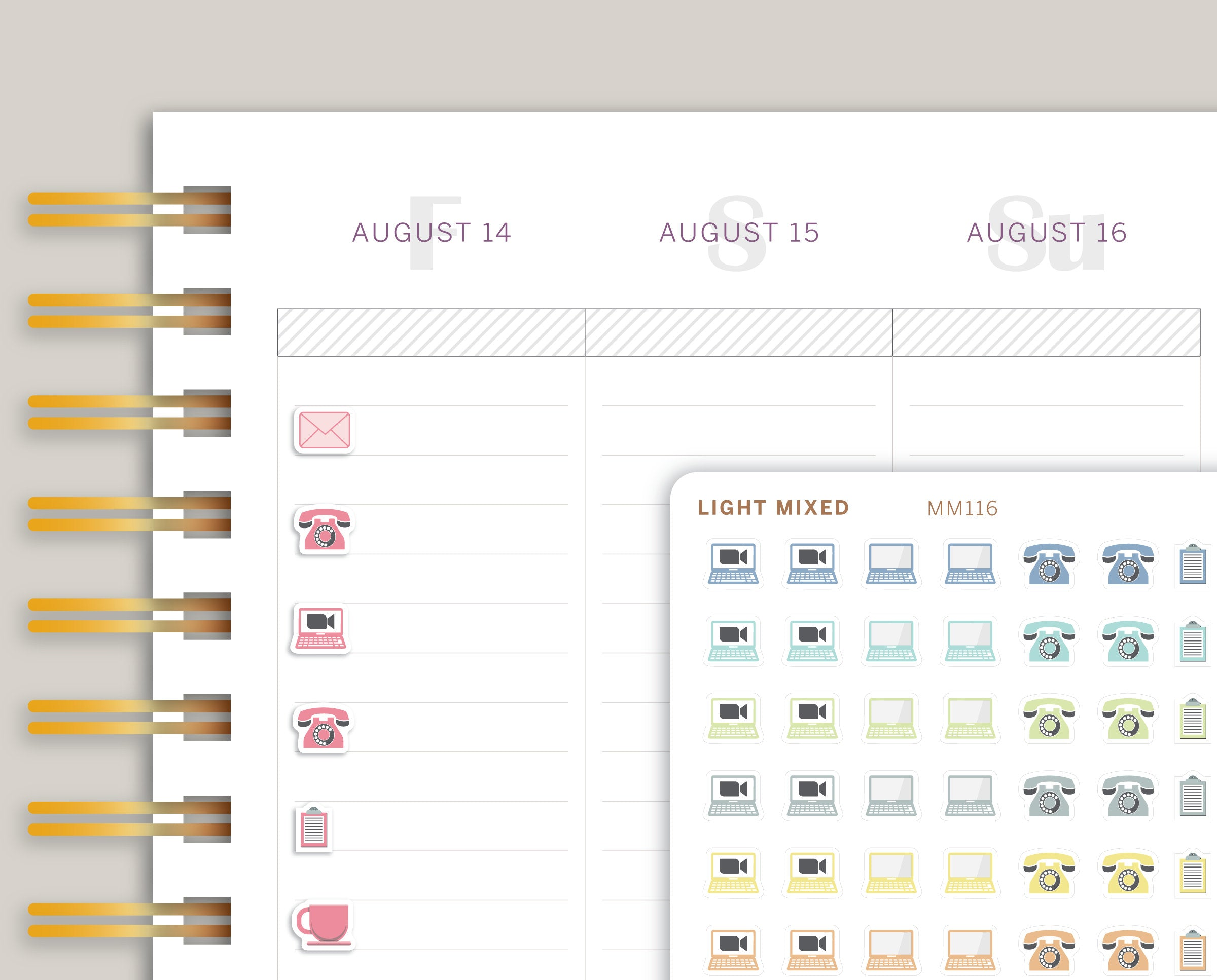 Mini Communication Icon Sampler Planner Stickers for MakseLife Planner MM116
