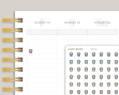 Mini Kettlebell Icon Planner Stickers for Makse Life Planner MM99