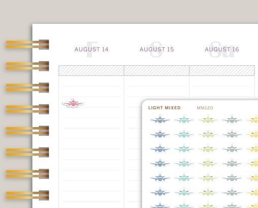 Mini Airplane Icon Planner Stickers for Makse Life Planner MM120