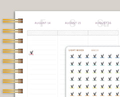 Mini Pilates Icon Planner Stickers for Makse Life Planner MM119