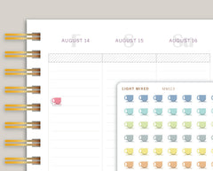 Mini Coffee Icon Planner Stickers for Makse Life Planner MM113