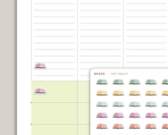 Mini Book Icon Planner Stickers for 2020 inkWELL Press IWP-RM147