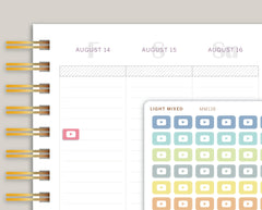 Mini YouTube Icon Planner Stickers for Makse Life Planner MM138
