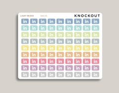 Mini LinkedIn Icon Planner Stickers for Makse Life Planner MM146