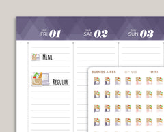 Order Groceries Icon Planner Sticker for 2021 inkWELL Press Planners IWP-N48