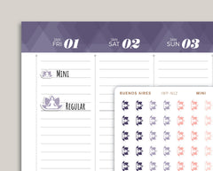 Yoga Icon Planner Stickers for 2021 inkWELL Press IWP-N12