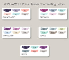 Single Line Plus Box Stickers for 2021 inkWELL Press Planners IWP-W7