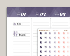 Meal Plan Stickers for 2021 inkWELL Press Planners IWP-N15