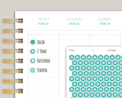 Mini Hexagons Stickers for 2021 Makse Life Planner U1