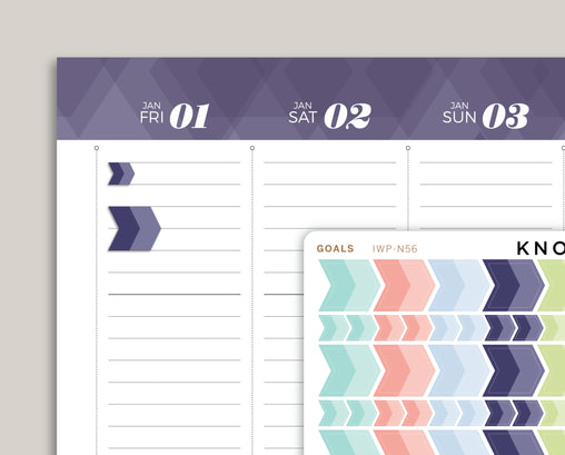 Goal Arrow Planner Sticker for 2021 inkWELL Press Planners IWP-N56