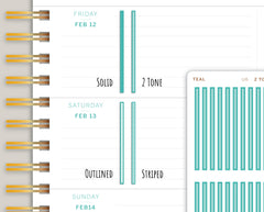 Horizontal Divider Stickers for 2021 MakseLife Planner U6